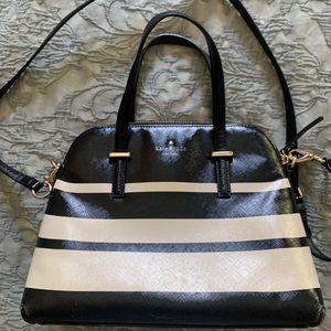Authentic Kate Spade Black & white crossbody purse